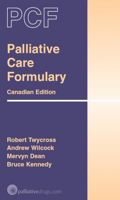 Palliative Care Formulary Canadian Edition