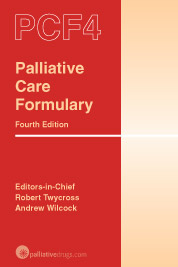 Palliative Care Formulary 4th edition