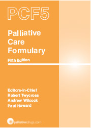 Palliative Care Formulary 5th edition